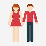 Heterosexual couple icon image Stock Photography