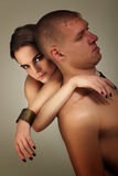 Heterosexual de los pares en amor Foto de archivo