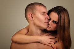 Heterosexual de los pares en amor Fotos de archivo libres de regalías