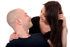 Heterosexual loving couple Royalty Free Stock Photography