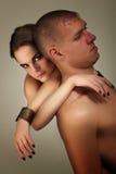 heterosexuell förälskelse för par Arkivfoto