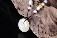 Hetian jade necklace. The Hetian jade necklace for safeness Royalty Free Stock Photos