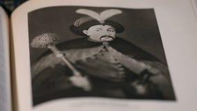 Hetman B Ejército de Khmelnitsky Zaporozhian, retrato almacen de metraje de vídeo