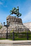 Hetman Bogdan Khmelnitsky statue in Kiev, Ukraine Stock Photo