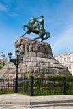 Hetman Bogdan Khmelnitsky statue in Kiev, Ukraine Stock Photo