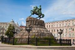 Hetman Bogdan Khmelnitsky statue in Kiev, Ukraine Stock Photos