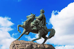 Hetman Bogdan Khmelnitsky statue in Kyiv Royalty Free Stock Photos