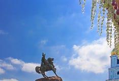 Hetman Bogdan Khmelnitsky statue and Sofia belltower Stock Photography