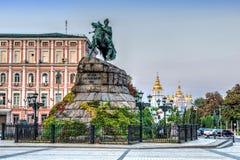 Hetman Bohdan Khmelnytsky statue in Kiev Stock Photos