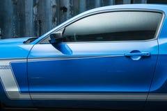 Hetwitte Ford Mustang-stemmen Royalty-vrije Stock Afbeelding
