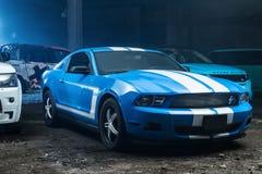 Hetwitte Ford Mustang-stemmen Stock Foto's
