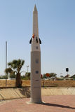 Hetz Arrow modern anti-ballistic missile developed by Israel Aircraft Industries. HATZERIM, ISRAEL - MAY 2, 2017: Hetz Arrow modern anti-ballistic missile Royalty Free Stock Photography