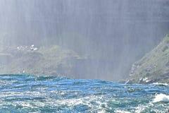 Hetzende Stromschnellen Niagara Falls in New York Lizenzfreie Stockfotos