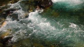 Hetzender Gletscherfall Banff Stockfoto