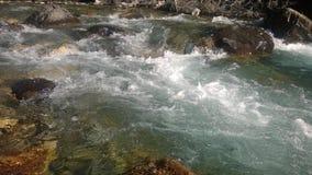 Hetzender Gletscherfall Banff Stockbild