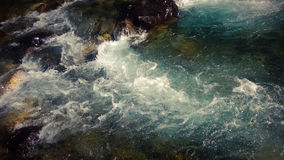Hetzender Gletscherfall Banff Stockbilder