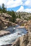 Hetzendes StromFlusswasser durch die elf Meilen-Schlucht Colorado Lizenzfreies Stockfoto