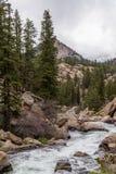 Hetzendes StromFlusswasser durch die elf Meilen-Schlucht Colorado stockfotos