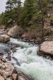 Hetzendes StromFlusswasser durch die elf Meilen-Schlucht Colorado Stockbilder