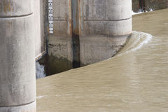 Hetzendes Wasser an Longhorn-Verdammung Lizenzfreie Stockfotos