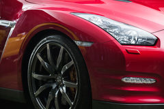 Hetzwarte Nissan GT-R-stemmen Stock Afbeelding