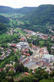 Heubach town. View from Burg Rossenstein castle Stock Images