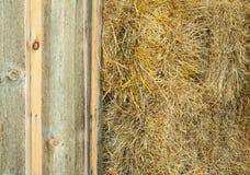Heukautionen in der Scheune für Pferd ziehen ein Stockfoto