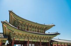 Heungnyemun brama w Gyeongbokgung pałac w Seul Południowy Korea fotografia stock