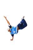 Heup-hop jonge mens die koele beweging maakt Stock Foto