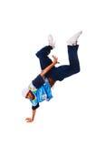 Heup-hop jonge mens die koele beweging maakt Stock Foto's