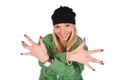 Heup-hop meisjesvingers wijd stock fotografie