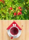 Heupen en koppen van hete thee Stock Fotografie