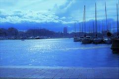 Heure bleue dans Marsielle Photographie stock libre de droits
