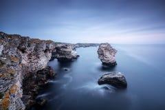 Heure bleue dans Tyulenovo Photographie stock