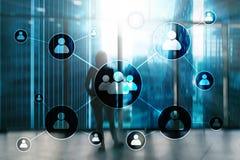 Heure - Concept de gestion de ressources humaines sur le fond brouillé de centre d'affaires illustration stock