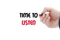 Heure d'écouter concept des textes Photo libre de droits