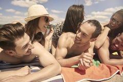 Heure d'été avec des amis Photographie stock
