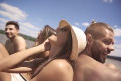 Heure d'été avec des amis Images stock