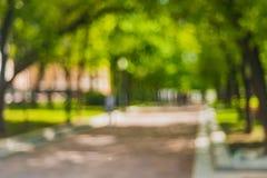 Heure d'été brouillée par ville Images stock