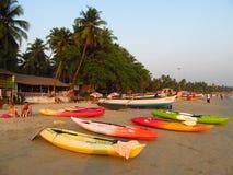 Heure d'été en plage de Goa Images libres de droits