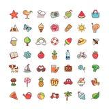 Heure d'été d'icônes illustration stock