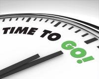Heure d'aller - horloge Photo libre de droits