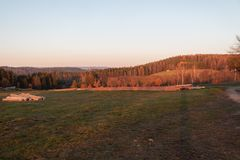 Heure d'or au coucher du soleil photos libres de droits