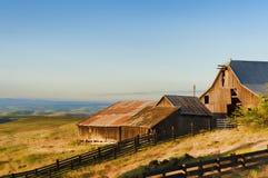 Heure d'or chez Dallas Mountain Ranch à l'état de Columbia Hills Image stock