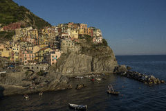Heure d'or de Manarola Photo stock