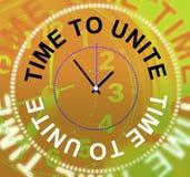 Heure d'unir des expositions fonctionnant ensemble et la coopération Image stock