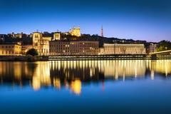 Heure de bleu de Lyon Image stock