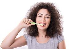 Heure de brosser les dents ! image libre de droits