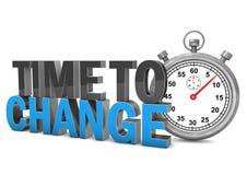 Heure de changer le chronomètre Photos stock