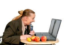 Heure de déjeuner de femme d'affaires Photographie stock